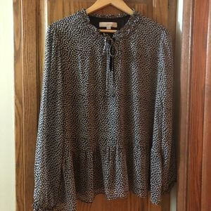 LOFT floral-patterned flowy blouse XL